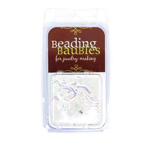 Bridge Beads - Crystal AB, 3x12mm (20GM)