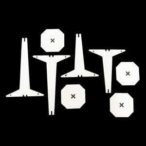Matte White Acrylic Earring Stand Multi-pack (2 x 16 x 10cm & 2 x 12 x 10cm)