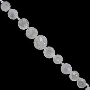 35cts Rainbow Moonstone Graduated Faceted Onion Approx 3x3.5 to 7x.7.5mm, 20cm Strand With Spacers