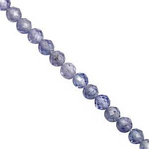 10cts Tanzanite Micro Faceted Round Approx 2mm, 40cm Strand
