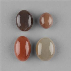 148cts Multi Colour Moonstone Multi Shape Cabochons Assortment.