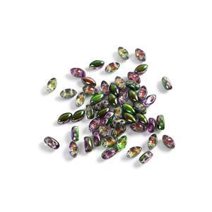 IrisDuo Beads Crystal Magic Orchid, Approx 4x7mm (50pcs)