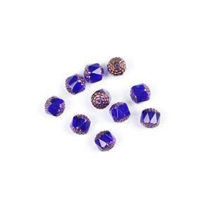 Czech Cathedral Beads - Sapphire Bronze, 10mm (10pcs)