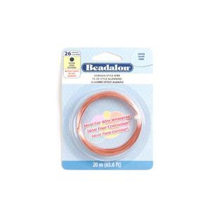 Beadalon Copper German Style Round Wire, 26 Gauge/0.41mm, 65.6ft/20m
