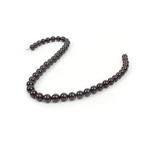 350cts Star Garnet Plain Rounds Approx 8 to 10mm, 38cm Strand