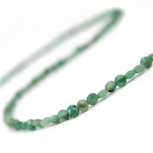 20cts Zambian Emerald Faceted Coins Approx 3.5mm, 38cm Strand