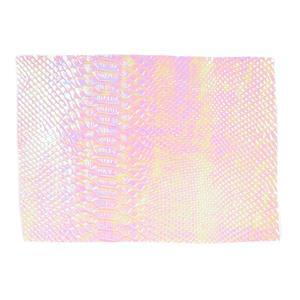 Synthetic-Leather Pink Opal AB 7x10.5in