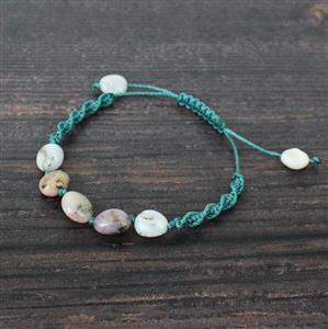 Ocean Blues: Ocean Jasper nuggets, macrame cords in complementary blues & greens