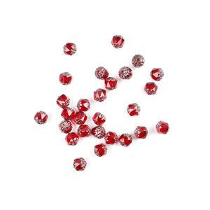 Czech Cathedral Beads - Red Pewter, 8mm (25pcs)