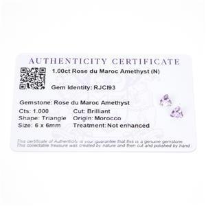 1cts Rose du Maroc Amethyst 6x6mm Triangle  (N)