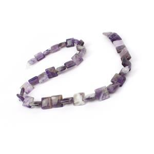 130cts Amethyst Puffy Squares Approx 10mm, 38cm strand