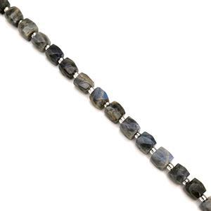 280cts Labradorite Faceted Candy Beads Approx 10x10mm, 38cm Strand