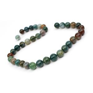 265cts Fancy Jasper Rounds Approx 10mm, 38cm Strand