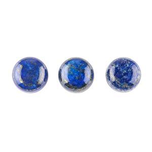 40cts Lapis Lazuli Round Cabochons Approx 14mm. (Pack of 3)