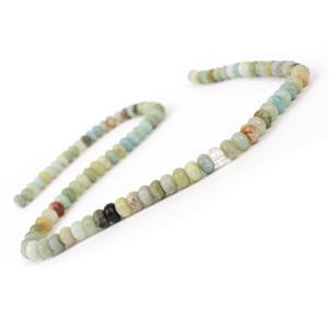 100cts Chinese Multi-colour Amazonite Plain Rondelles Approx 6x4mm, 38cm Strand