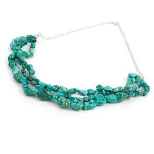 143ct Turquoise Sterling Silver Necklace