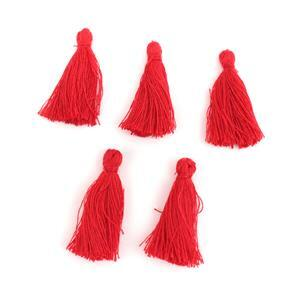 25mm Red Tassels, 5pk