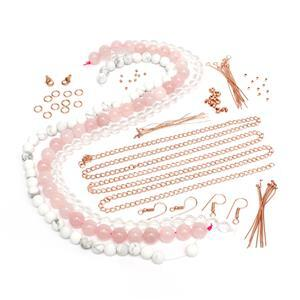Glistening Beginner Jewellery Making Kit with Rounds