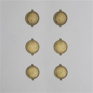 Antique Bronze Plain 27mm Round Connector Bezel (20pcs/Pack)