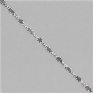 Deal of the Day!!! 925 Sterling Silver Gemstone Bezel Chain Approx 15x5mm Inc. 17cts Labradorite Faceted Marquise Approx 8x4mm, Length Approx 50cm