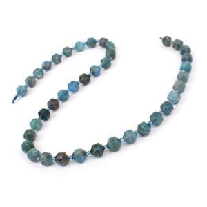 135cts Multi-Colour Neon Apatite Faceted Drums Approx 7mm, 38cm Strand