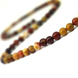 50cts Mookite Plain Rounds Approx 4mm, 38cm Strand