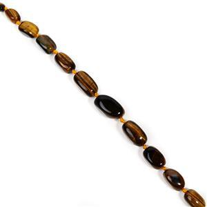 669cts Yellow Tiger's Eye Graduated Large Nuggets Approx 18x13 to 35x20mm, 38cm Strand