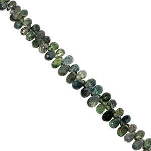30cts Songea Sapphire Side Drill Faceted Drop Approx 2.5x2 to 4.5x3mm, 19cms Strand