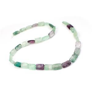 150cts Multi-colour Fluorite Faceted Rectangle Approx 8x12mm, 38cm Strand