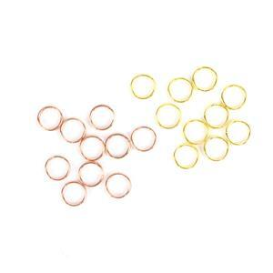 6mm Split Rings! Inc; Rose Gold & Gold Plated Split Rings in 6mm