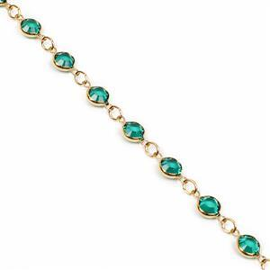 Swarovski 90005 Gold Plated Emerald Channel Chain Approx 50cm Long