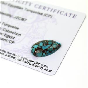6.15cts Egyptian Turquoise 20x12mm Pear  (CP)