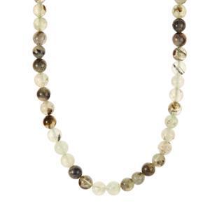 219.70ct Prehnite Sterling Silver Necklace
