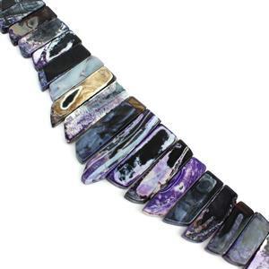 775cts Purple Agate Graduated Bars Approx 10x24-14x54mm Strand 15-16