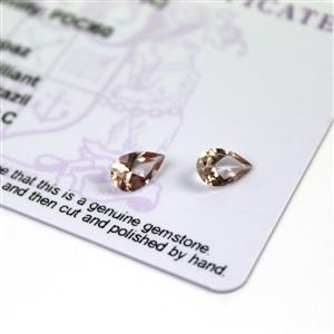 1.6cts Galileia Topaz 8x5mm Pear Pack of 2 (C)