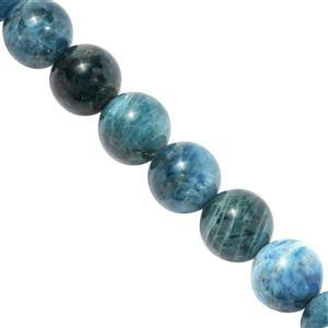 300cts Neon Apatite Plain Rounds Approx 9 to 10mm, 36.5cm Strand