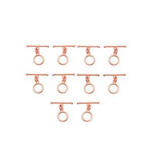 Rose Gold Plated Base Metal Toggle Clasp, 10mmx21mm (10pcs/pack)