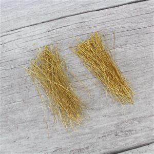 200pcs Double Trouble! Inc; 2 x Gold Plated Brass Featherweight Headpins Approx 50mm