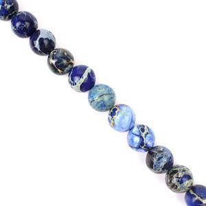280cts Blue Variscite Plain Rounds Approx 12mm 38cm
