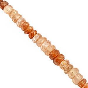 68cts Shaded Zircon Graduated Faceted Rondelles Approx 2.5x1 to 5x3mm, 32cm Strand