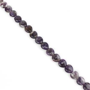 180cts Amethyst Puffy Hearts Approx 12mm, 38cm strand