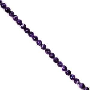 170cts Dog Tooth Amethyst Rounds Approx 8mm, 38cm