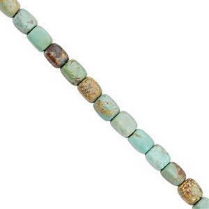 45cts Turquoise Smooth Cube Approx 6x4 to 7x5.5mm, 20cm Strand