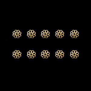 Gold Colour Brass Filigree Bead Caps Approx 6mm - (10pcs/pk)