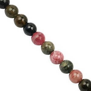 38cts Multi-Colour Tourmaline Smooth Round Approx 5mm, 22cm Strand