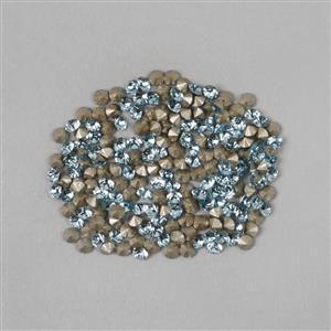 Swarovski Round Stone Aquamarine Approx 1.65mm (200pk)