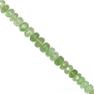 12cts Tsavorite Garnet Faceted Rondelles Approx 2.50X2.40 to 4x2.25mm, 10cm Strand
