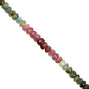 55cts Multi Tourmaline Faceted Rondelle Approx 4x1 to 4.5x3mm, 32cm Strand