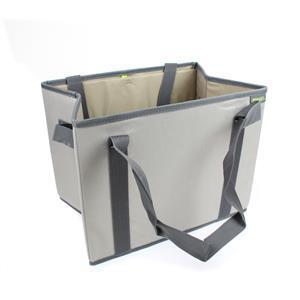 Foldable Meori Shopping Basket Stone Grey Solid 37x28x26cm