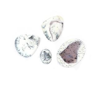 185cts Dendrite Agate Multi Shape Cabochons Assortment.